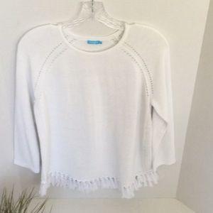 J McLaughlin fringe sweater